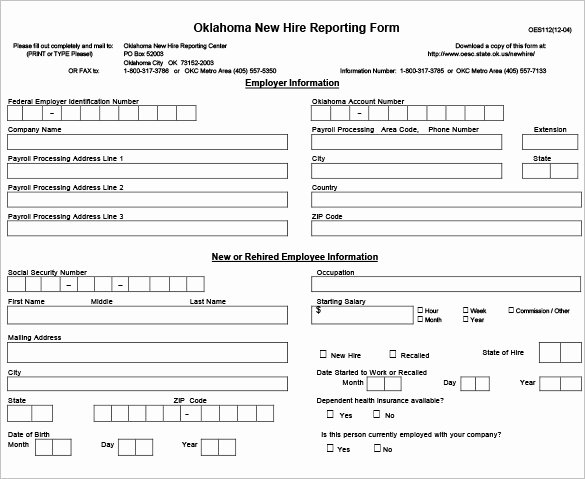 New Hire form Template Fresh 12 New Hire Processing forms Hr Templates