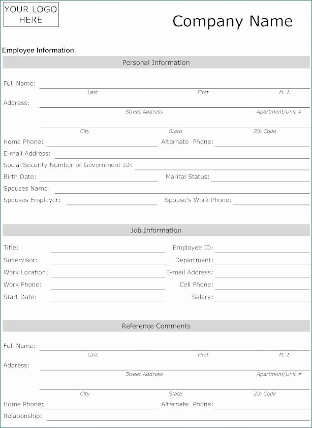 New Hire form Template Fresh New Stock New Hire forms Template