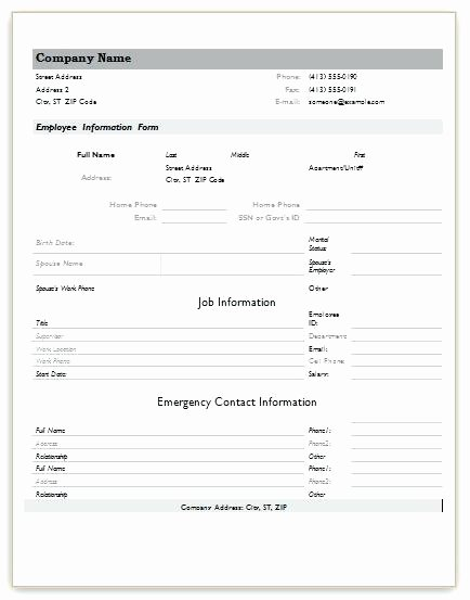 New Hire form Template Inspirational New Hire form Template – Buildingcontractor