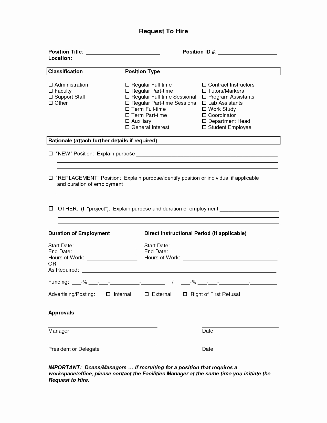 New Hire form Template Luxury 6 New Hire Application form Templateagenda Template Sample