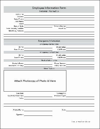 New Hire form Template New Employee Information Sheet Template – asctech