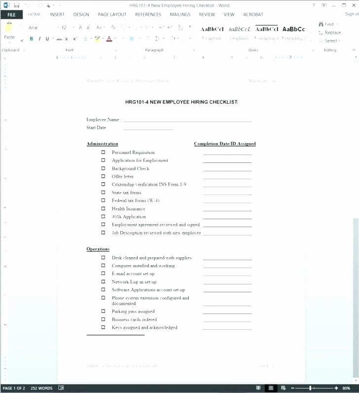New Hire Paperwork Checklist Template Beautiful New Hire forms Checklist Template