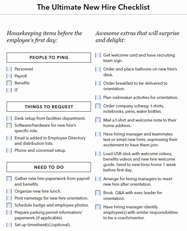 New Hire Paperwork Checklist Template Beautiful New Hire Onboarding Checklist Boarding