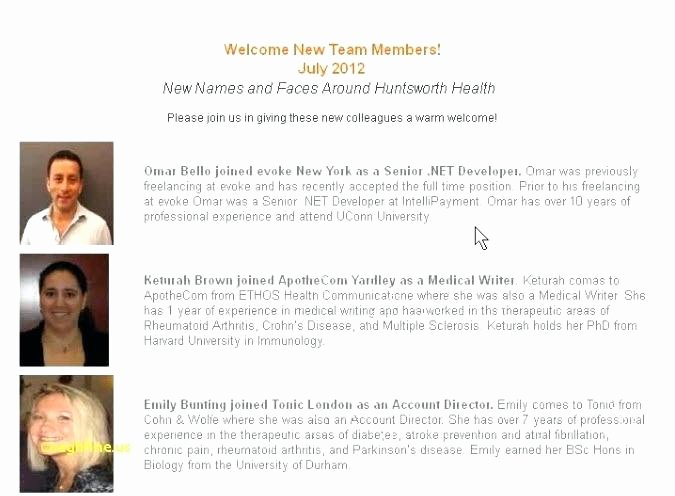 New Hire Press Release Template Lovely New Hire Press Release – Emmamcintyrephotography