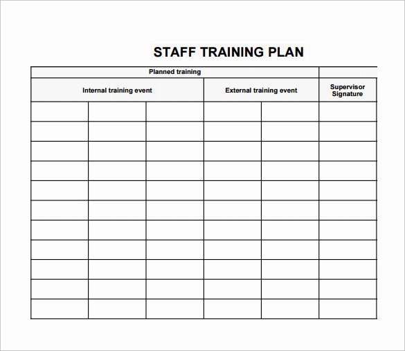 New Hire Training Plan Template Luxury Employee Training Plan Template