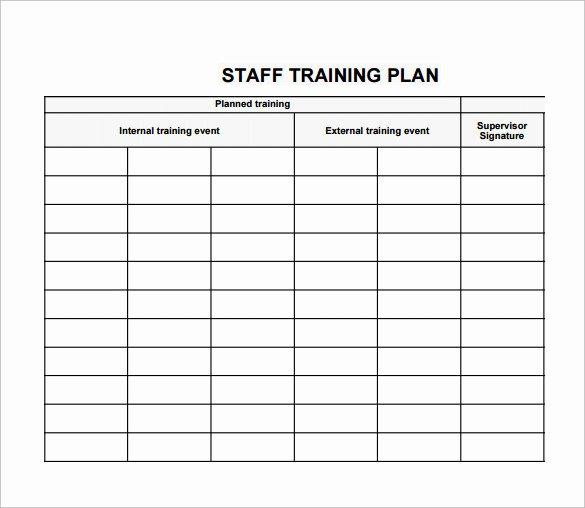 New Hire Training Plan Template Luxury Employee Training Plan Template