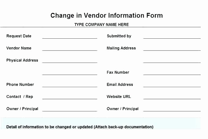 New Vendor form Template Excel Awesome Vendor Application Template 9 Free Word Documents Download