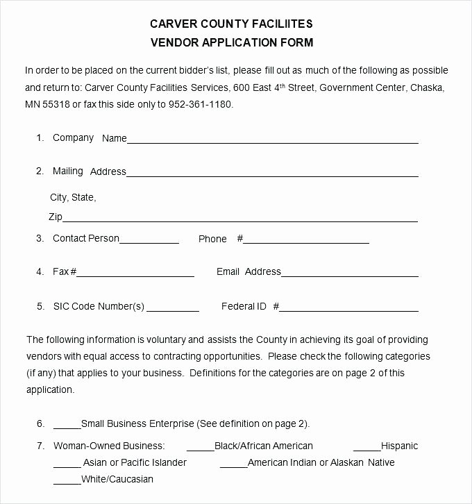 New Vendor form Template Excel Beautiful Craft Fair Vendor Agreement Template Application 9 Free