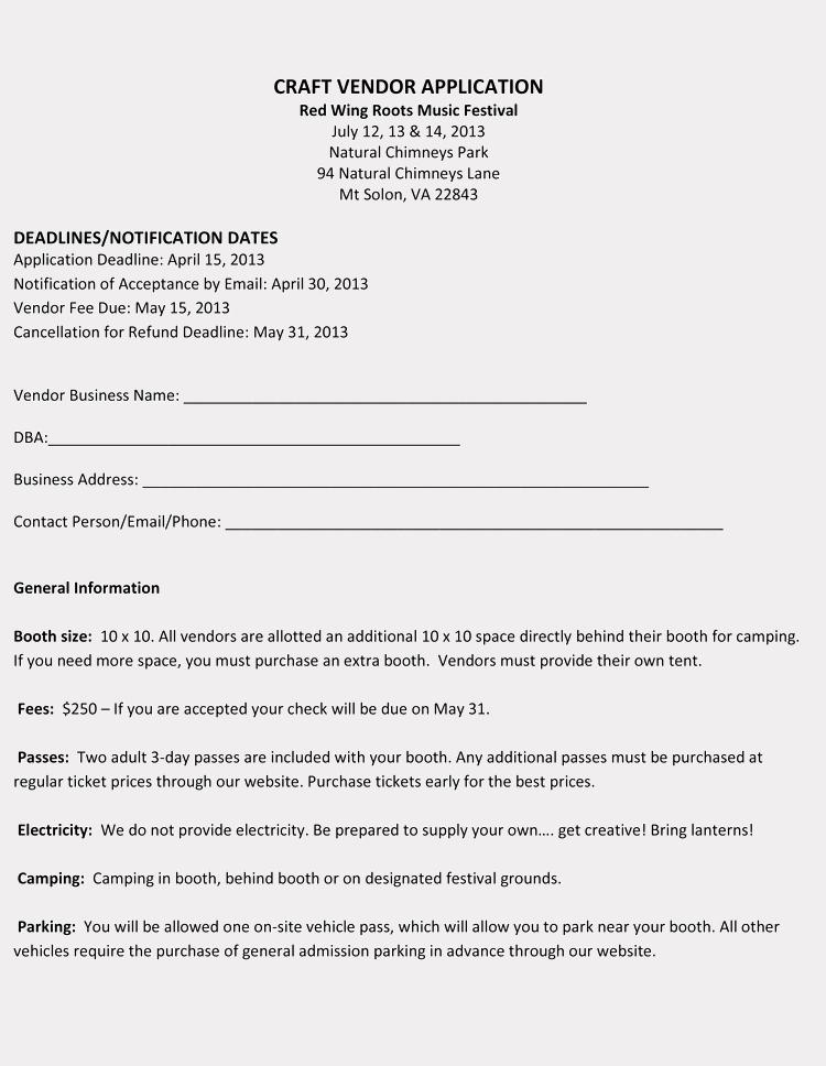 New Vendor form Template Excel Lovely 9 Printable Blank Vendor Registration form Templates for