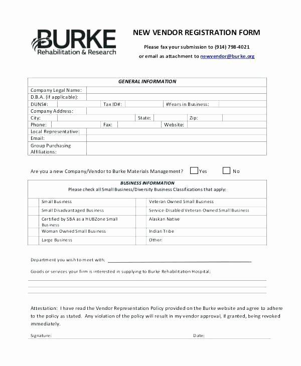 New Vendor form Template Excel Unique Contact Information form Template Vendor List Templates