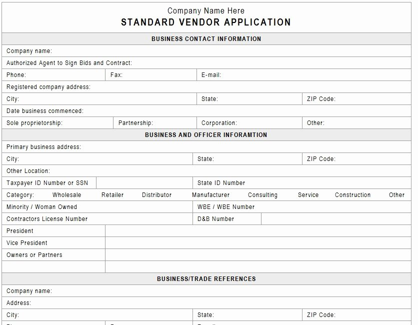 New Vendor Information form Template Awesome New Vendor Setup form Template 8 Quick Tips Regarding New