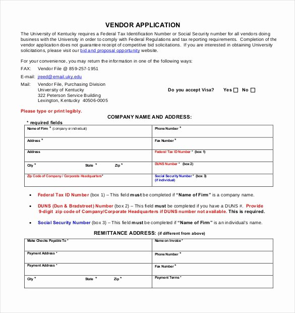 New Vendor Information form Template Awesome Vendor Application Template – 9 Free Word Pdf Documents
