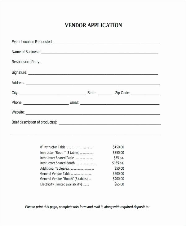 New Vendor Information form Template Awesome Vendor Setup Template – Loparfo