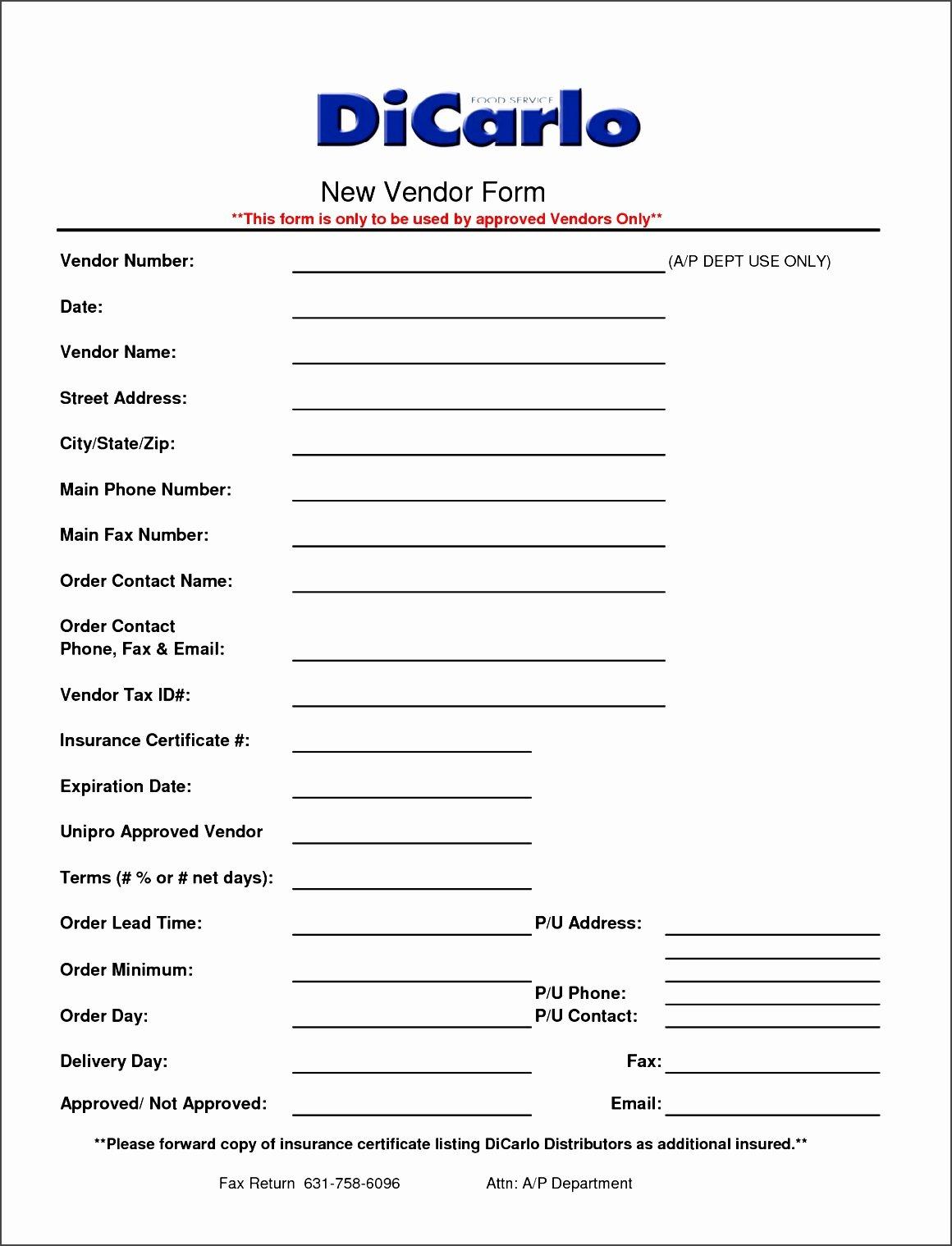New Vendor Information form Template Elegant Supplier Information form Template Yenef Luxury Best S