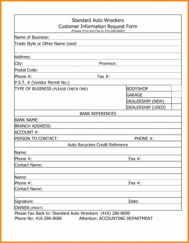 New Vendor Information form Template Elegant Vendor Information form Template Excel Customer