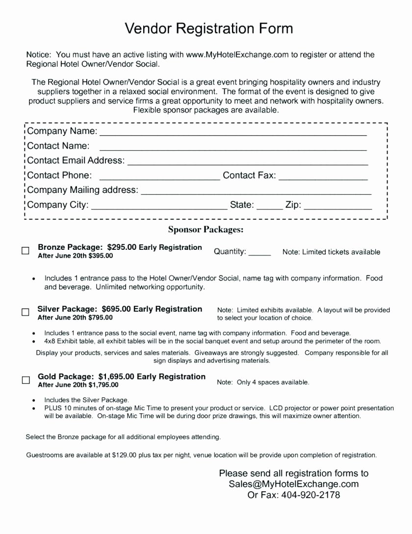 New Vendor Information form Template Fresh Template Pany Information form Template