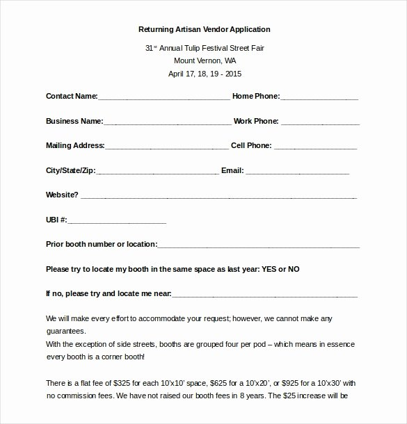 New Vendor Information form Template Lovely 10 Vendor Application Templates – Free Sample Example