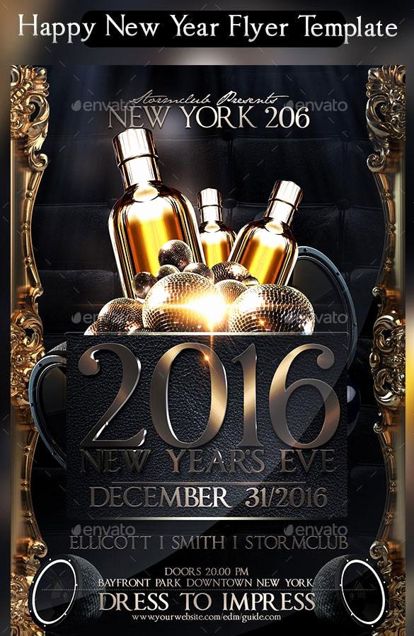 New Year Flyer Template Awesome 20 New Year Flyer Templates Free Download
