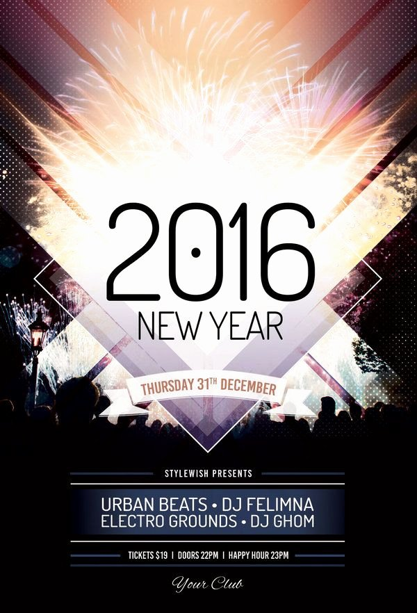 New Year Flyer Template Awesome 40 Best New Year Flyer Design Images On Pinterest