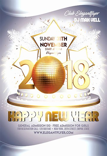 New Year Flyer Template Awesome New Year Eve – Free Flyer Psd Template – by Elegantflyer