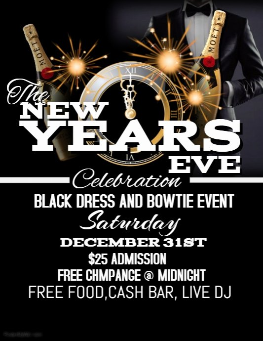 New Year Flyer Template Awesome New Years Eve Flyer Template