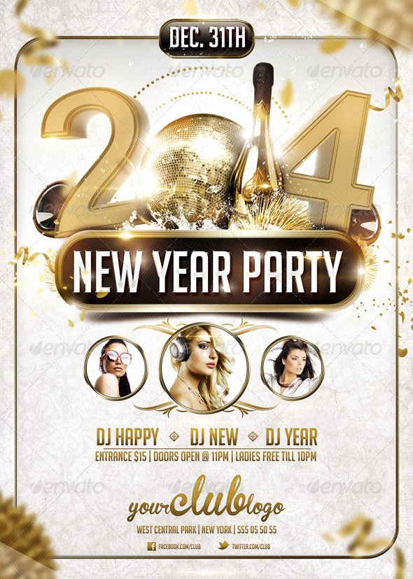 New Year Flyer Template Beautiful 25 Christmas & New Year Party Psd Flyer Templates