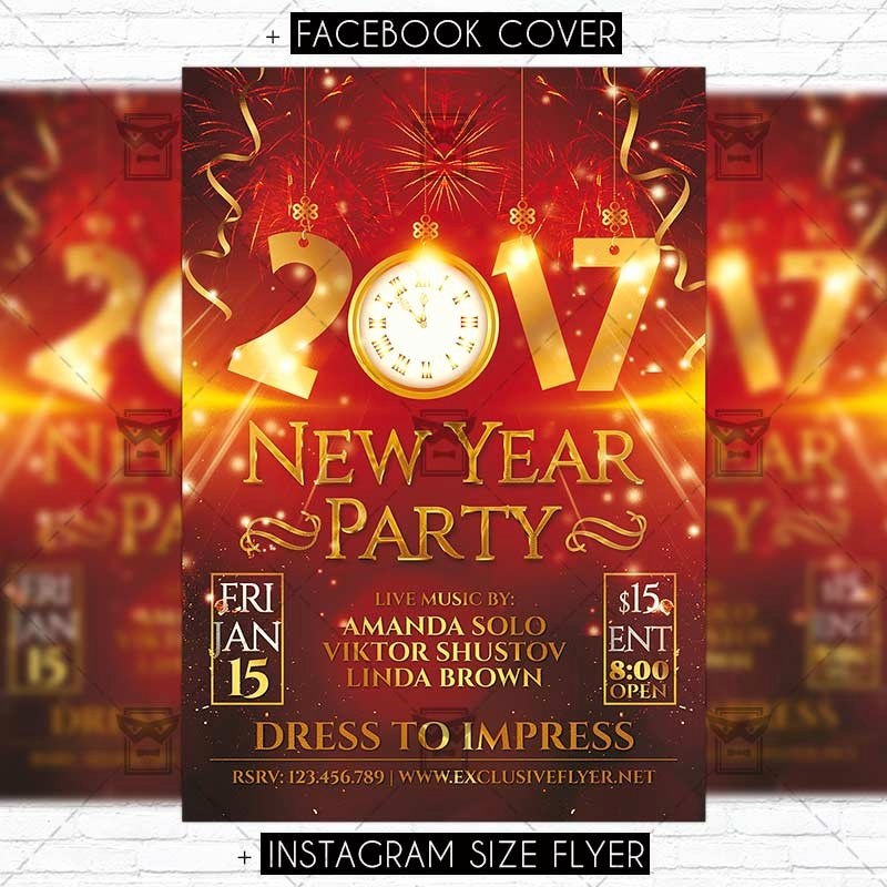 New Year Flyer Template Best Of 2017 New Year Party – Premium Flyer Template