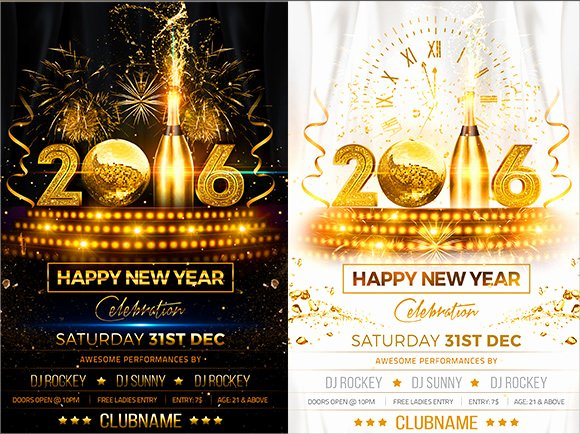 New Year Flyer Template Best Of 35 Amazing New Year Party Flyer Templates to Download