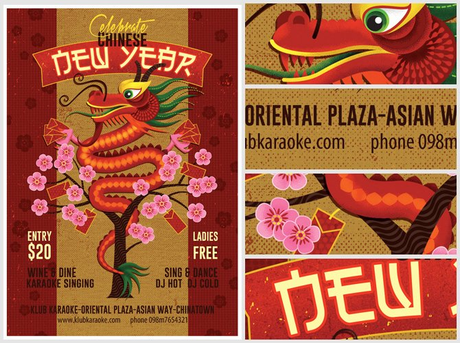 New Year Flyer Template Best Of Illustrated Chinese New Year Flyer Template 2 Flyerheroes