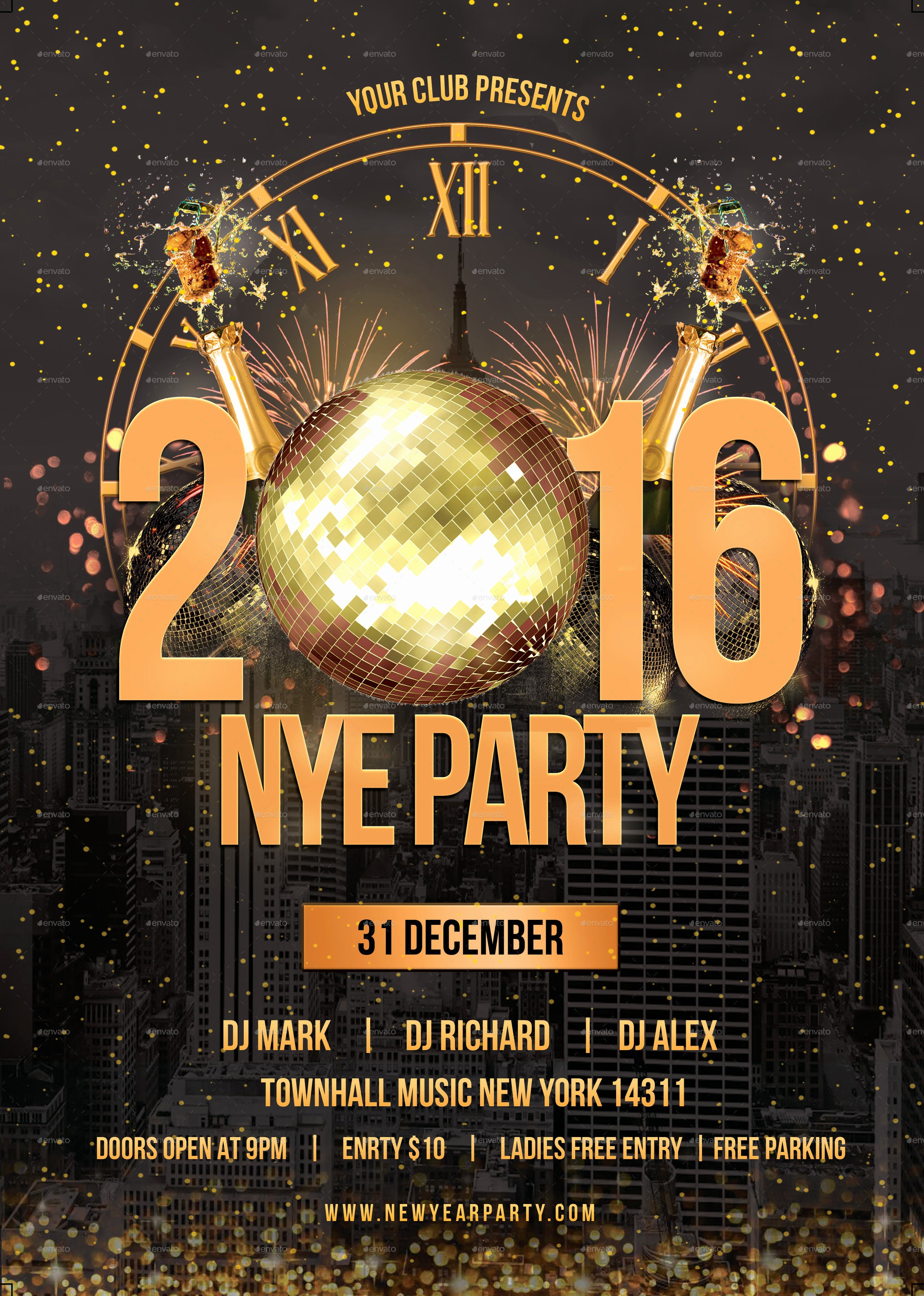 New Year Flyer Template Best Of New Year Party Flyer by Infinite