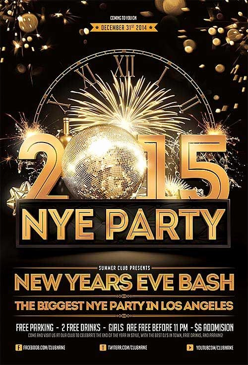 New Year Flyer Template Best Of New Years Eve Free Psd Flyer Template