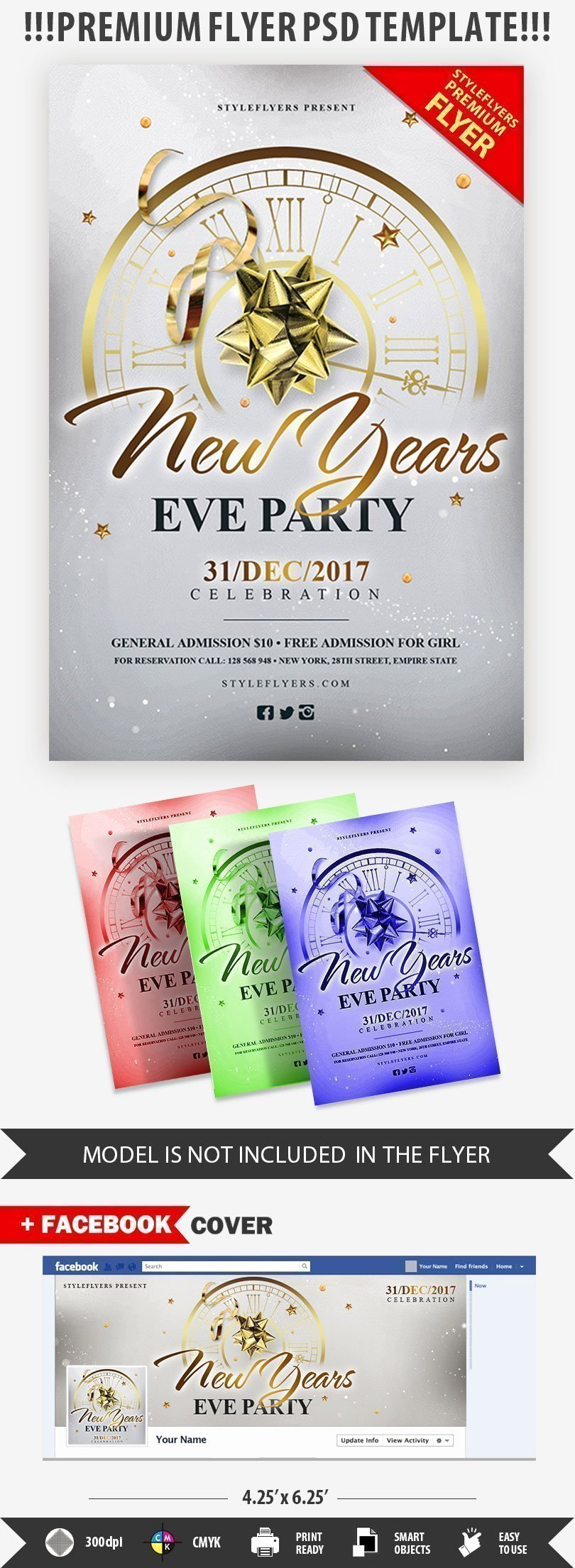 New Year Flyer Template Best Of New Year's Eve Party Psd Flyer Template Styleflyers