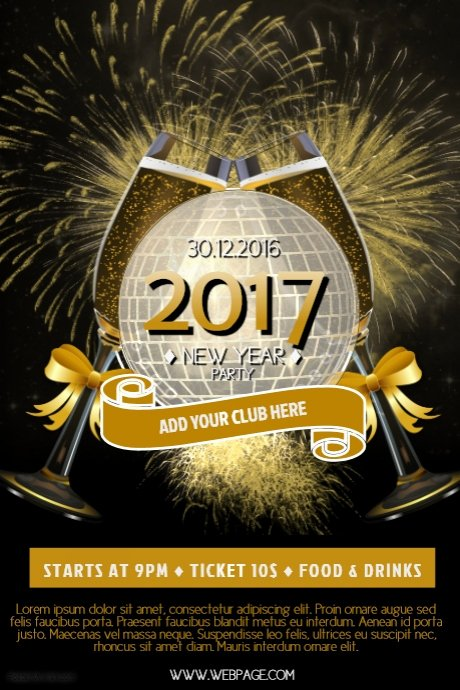 New Year Flyer Template Fresh 2017 New Year Flyer Template