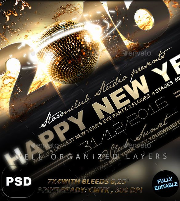 New Year Flyer Template Fresh 22 New Year Flyer Templates Psd Eps Indesign Word