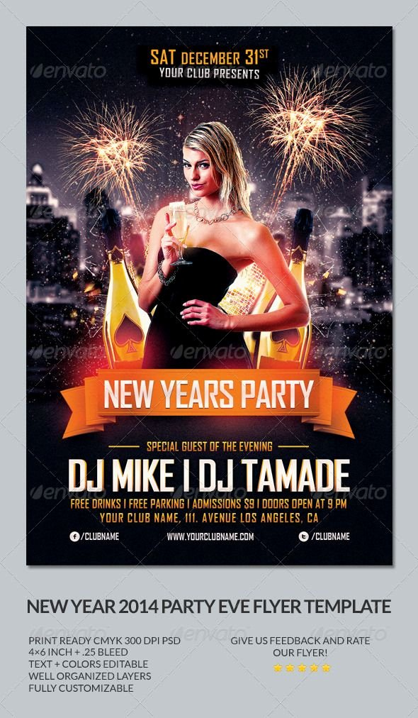 New Year Flyer Template Inspirational New Year Party Flyer Template Graphicriver New Years
