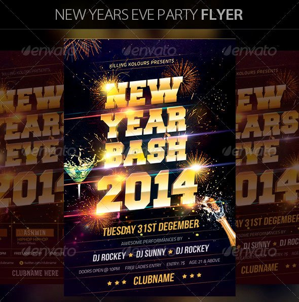New Year Flyer Template Lovely 25 Christmas & New Year Party Psd Flyer Templates