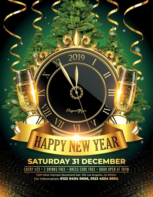 New Year Flyer Template Lovely Happy New Year 2018 Free Psd Flyer Template for New Year