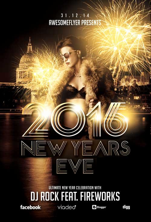 New Year Flyer Template Lovely New Year Celebration Flyer Template