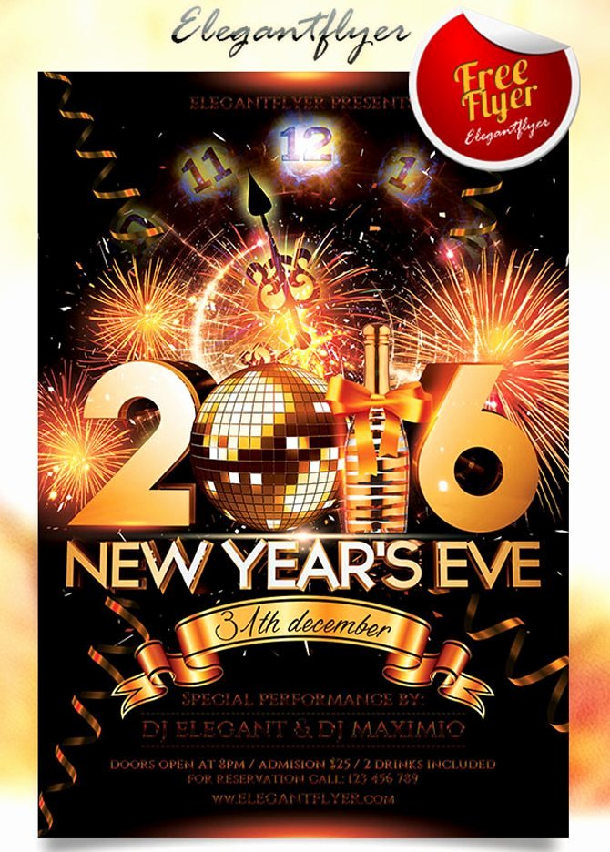 New Year Flyer Template Luxury 30 Free Christmas and New Year Psd Flyers for Promos