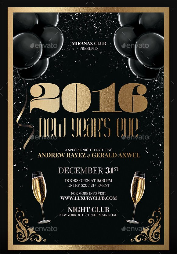 New Year Flyer Template Luxury 35 Amazing New Year Party Flyer Templates to Download