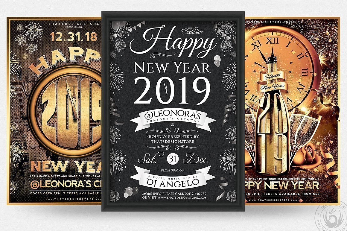 New Year Flyer Template Luxury New Year Eve Flyer Templates Affordable Flyers for Photoshop