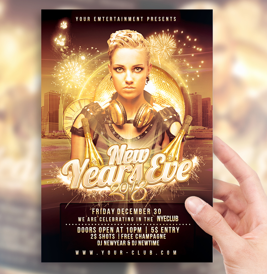 New Year Flyer Template Luxury New Years Eve Party Flyer Template by sorengfx On Deviantart