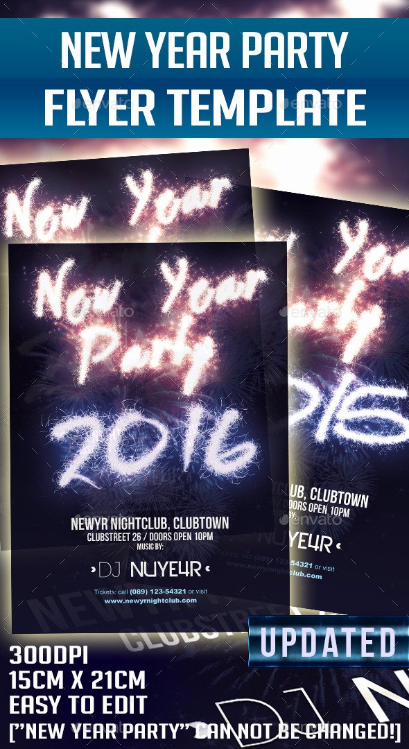New Year Flyer Template Luxury Print Template Graphicriver New Year 2015 2016 Party