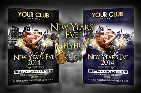 New Year Flyer Template New 22 New Year Flyer Templates Psd Eps Indesign Word