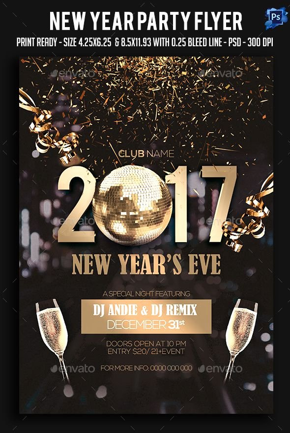 New Year Flyer Template New New Year Party Flyer