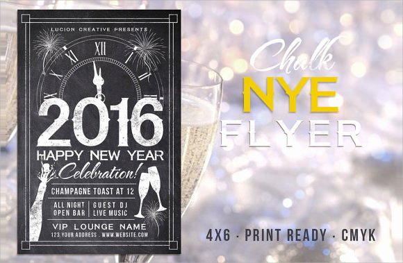 New Year Flyer Template Unique 35 Amazing New Year Party Flyer Templates to Download
