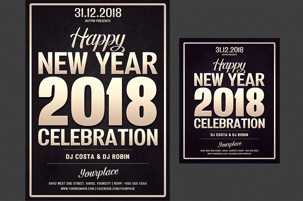 New Year Flyer Template Unique New Year Party Flyer Template Flyer Templates Creative