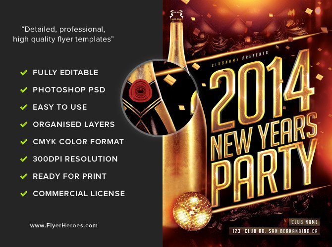 New Year Flyer Template Unique New Year S Eve Flyer Template Flyerheroes