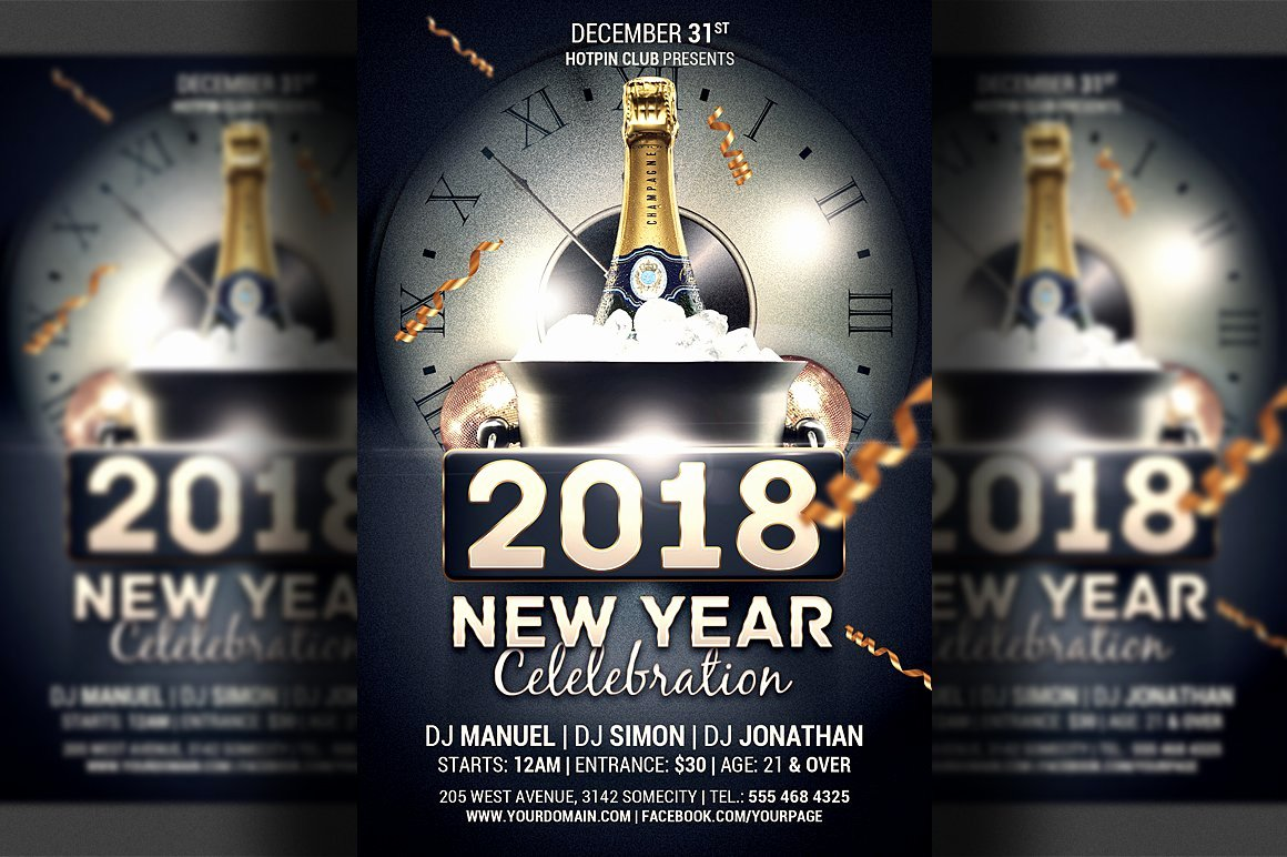 New Year Flyers Template Beautiful New Year Celebration Flyer Template Flyer Templates