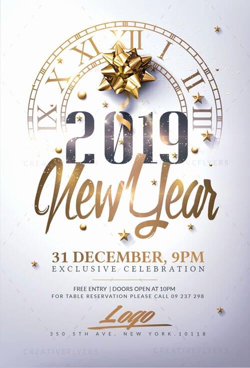 New Year Flyers Template Elegant New Year Invitation Flyer Psd Templates Creative Flyers